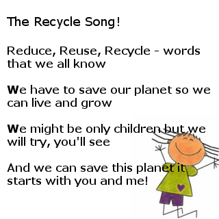 Recycle Song | Kids Poems | Pinterest | Kids poems