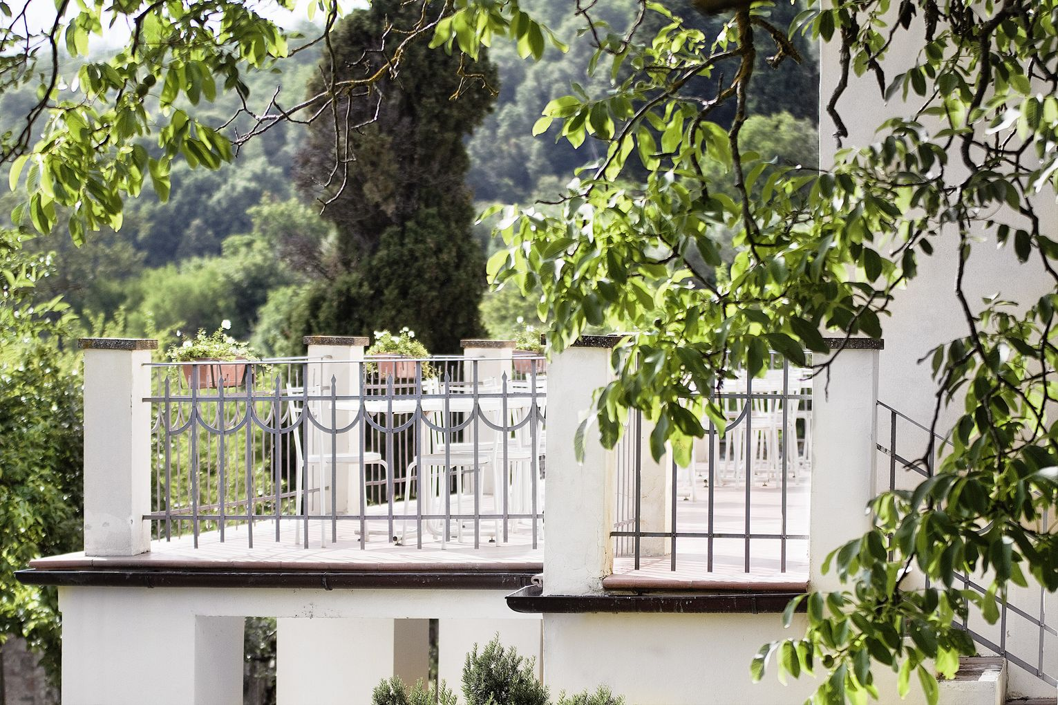Balcony of the Villa, suitable for an aperitif or cutting the cake