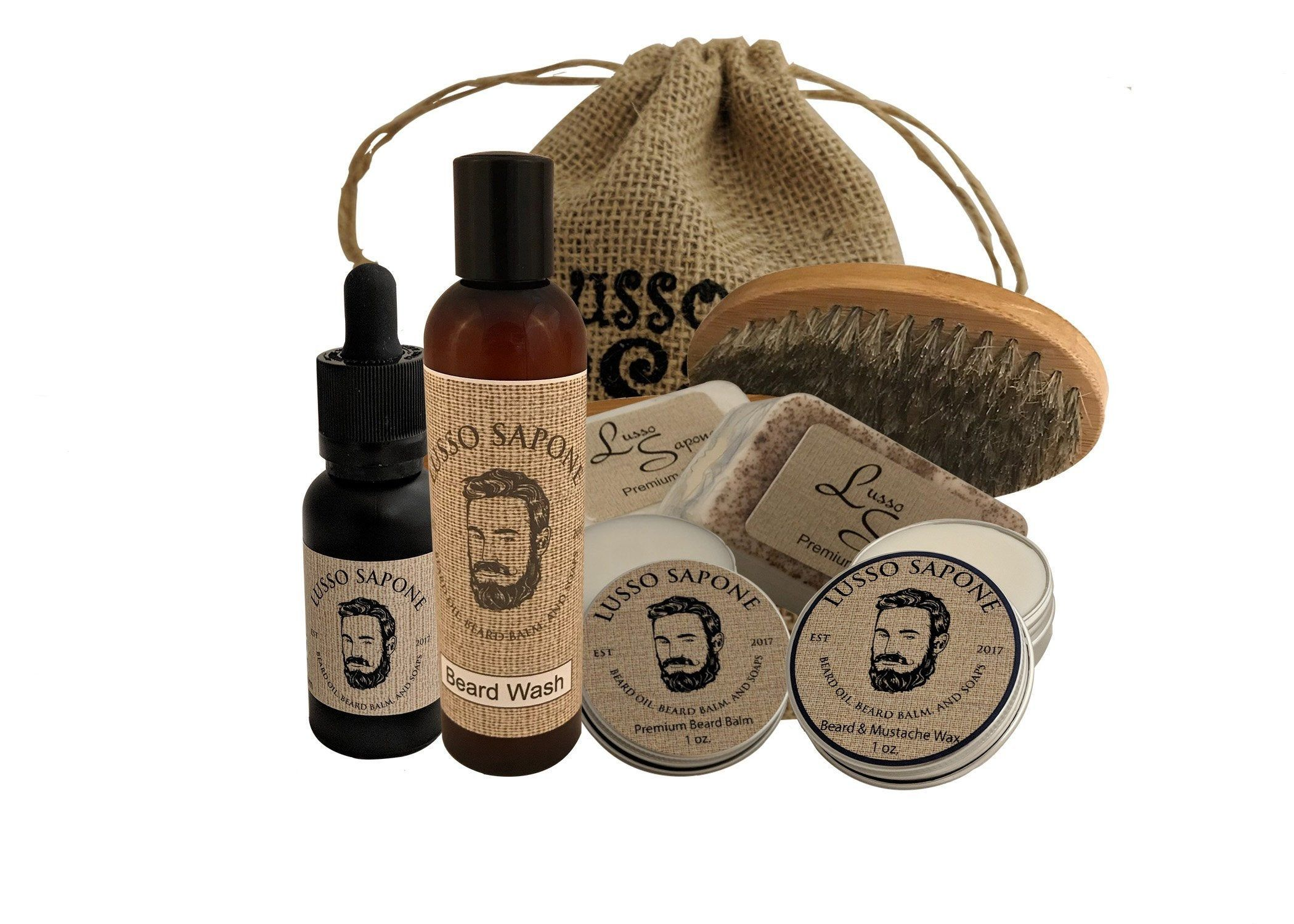 Beard Grooming Kit. Kit includes Beard Oil, Beard Balm