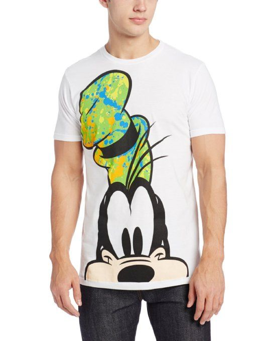 ae9224be24ff6 Amazon.com  Disney Men s Goofy Splatz T- Shirt  Clothing