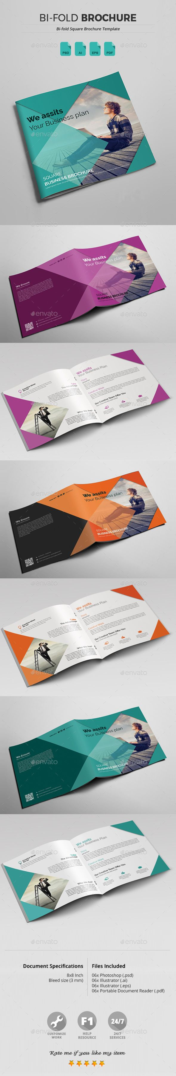 BiFold Square Brochure Design Template Corporate Brochure - Ai brochure template