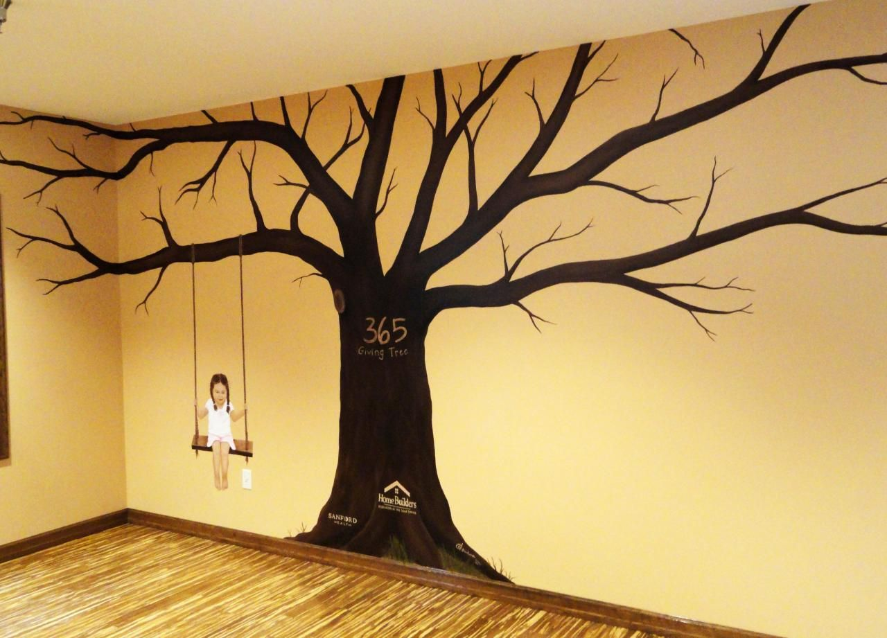 Simple Tree Wall Murals - Painting Tree Wall Murals Decorating Ideas ...