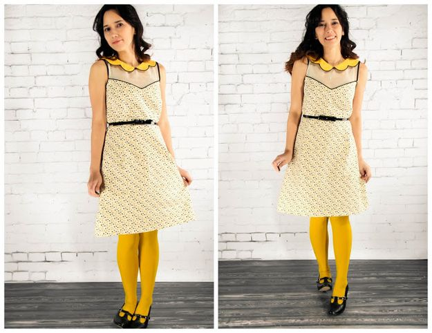 Sew this precious dress with a scalloped collar. | 21 Adorable Scalloped DIYs