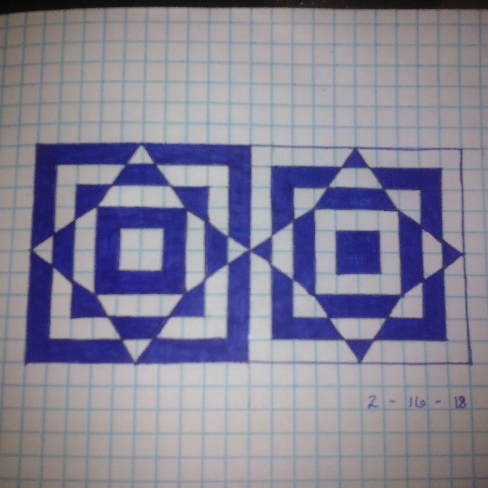 Graph Paper Pattern Of Alternating Black White