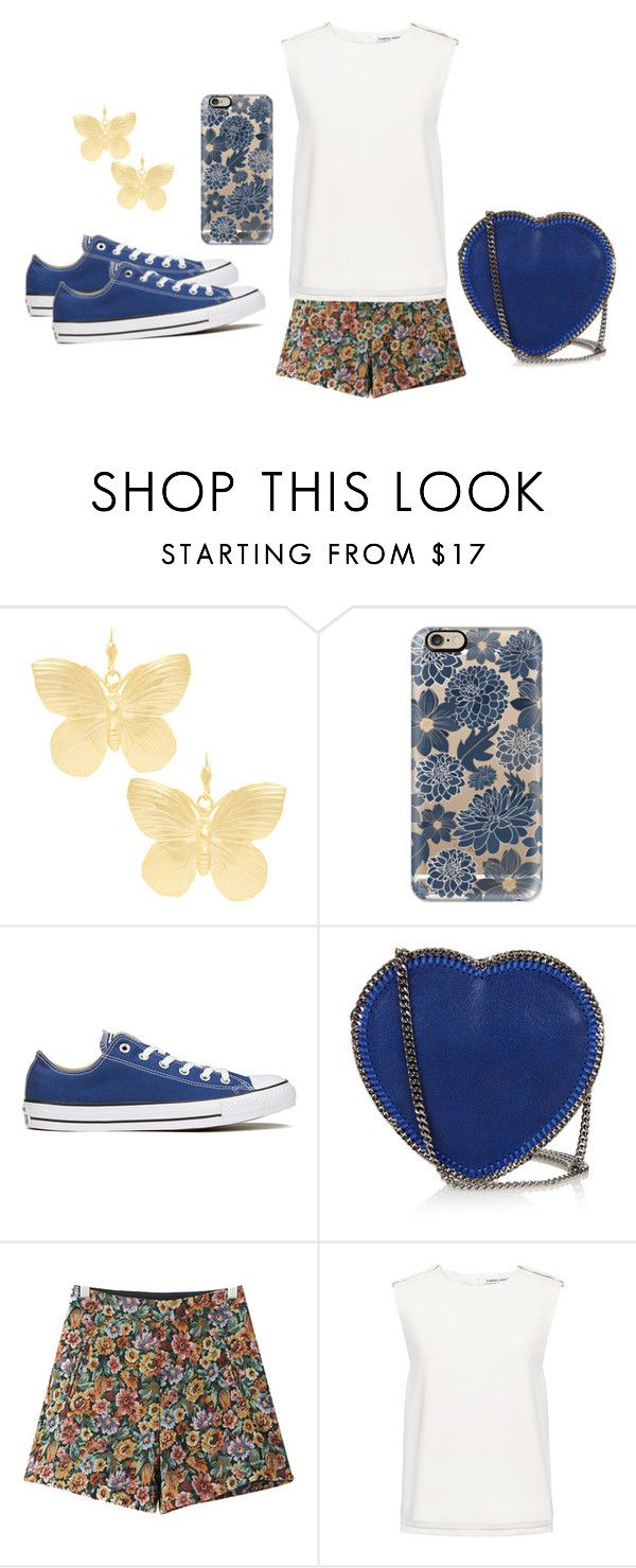 """""""My BFF"""" by cray-cray-cupcake on Polyvore featuring Kenneth Jay Lane, Casetify, Converse, STELLA McCARTNEY, Chicnova Fashion and Finders Keepers"""