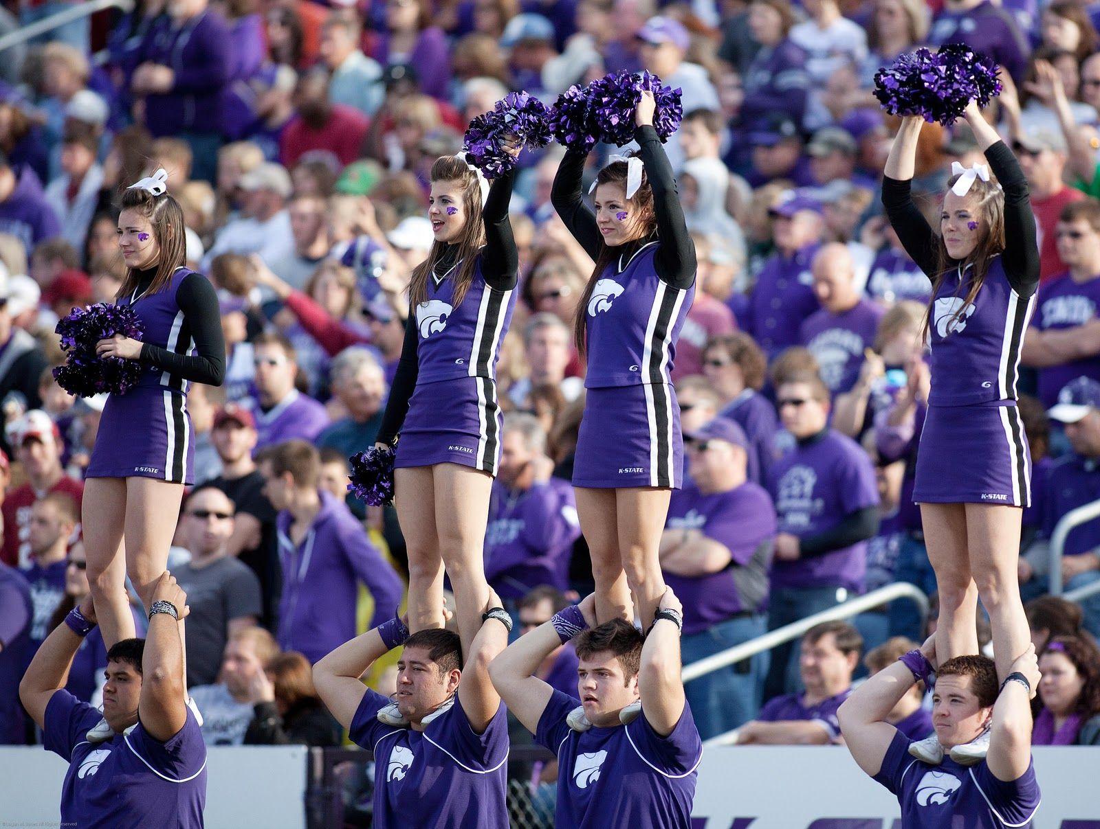 Kansas State University Kansas State Football Cheerleaders Cheerleading Pictures