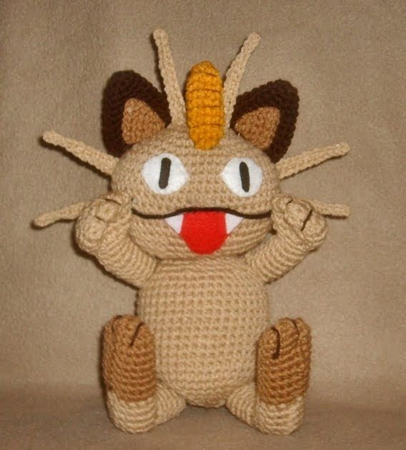 WolfDreamer: Meowth Plushie | Crochet | Pinterest | Gordita y Mejores