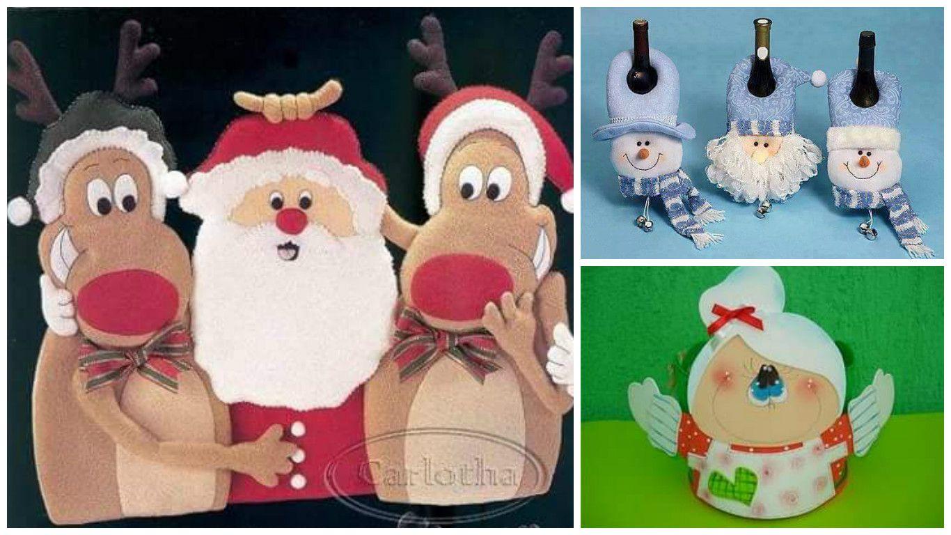 Moldes para hacer lindas manualidades navideñas en fieltro y foami