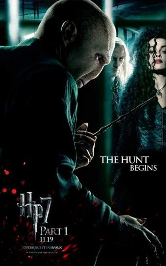 11x17 Inch Harry Potter And The Deathly Hallows Part 1 Movie Poster Features Lord Voldemort With The Elder Wand Bellatrix Lestrange And Lucius Malfoy And The