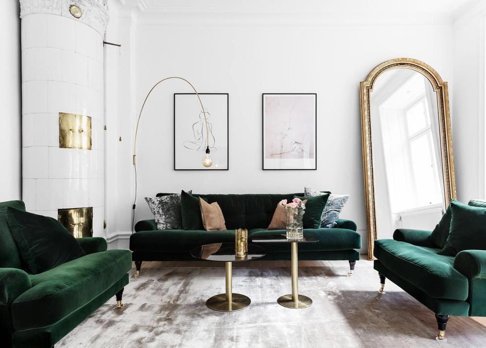 Modern Apartment With Vintage Furniture And Gold Accent Elements Homedecorrustic Room Interior Parisian Interior Elegant Living Room