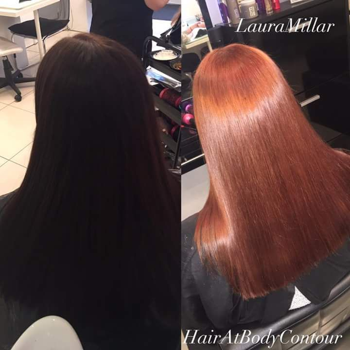 Before And After Wella 6 34 Copper Hair Copper Hair Color Long