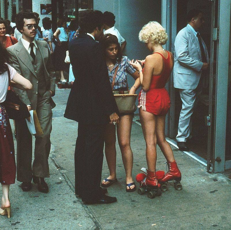 Red '70s skates.