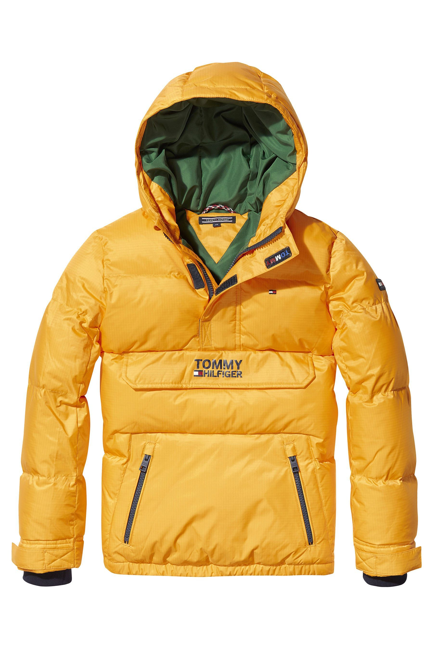 04ee04a407e2d Boys Tommy Hilfiger Yellow Pop Over Padded Jacket - Yellow ...