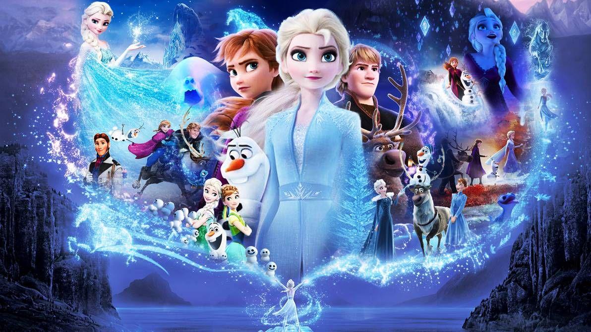 Frozen 1 and 2 Wallpaper by TheDarkMamba995 Disney