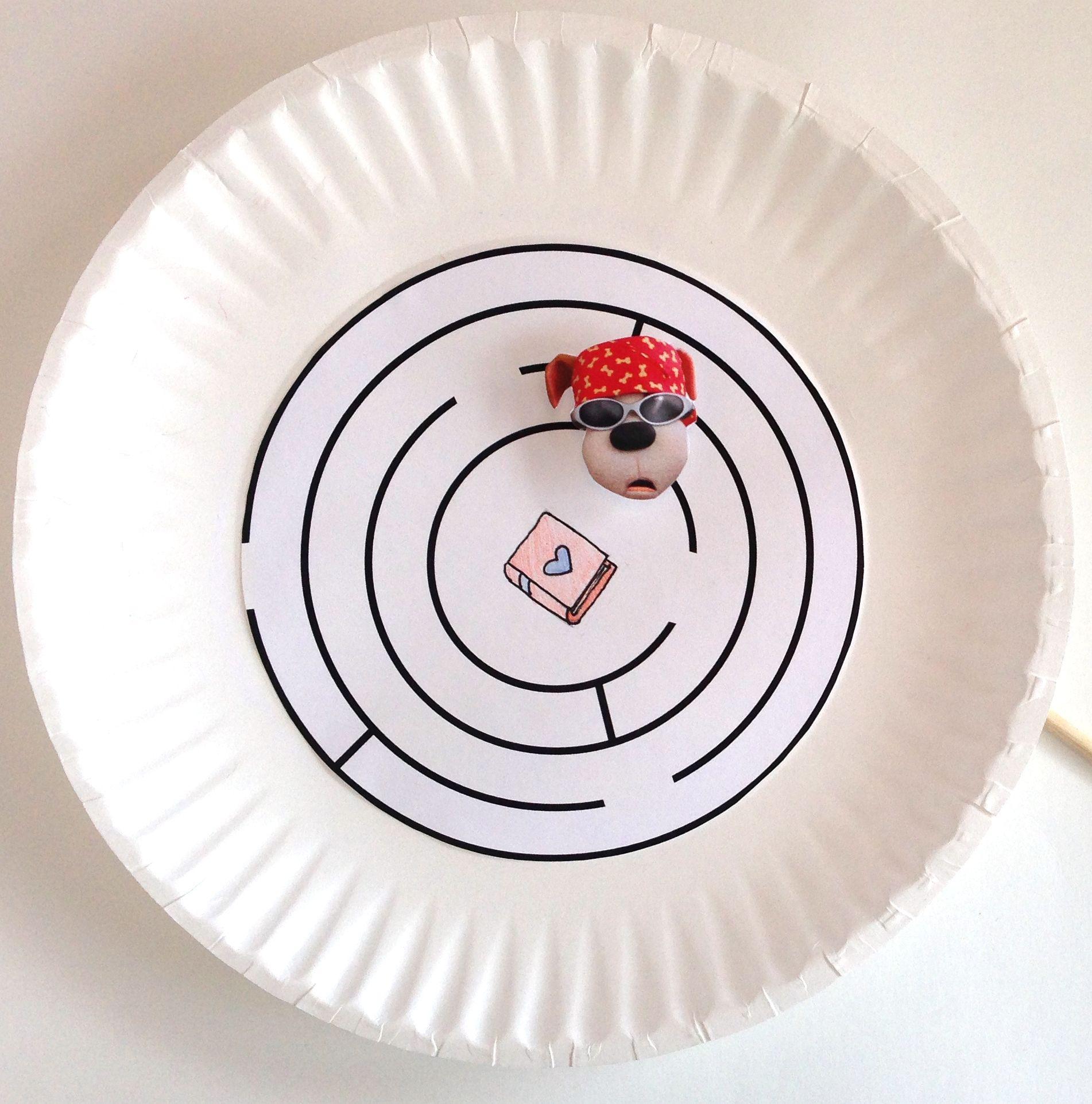 Bookaboo Paper Plate Magnet Maze