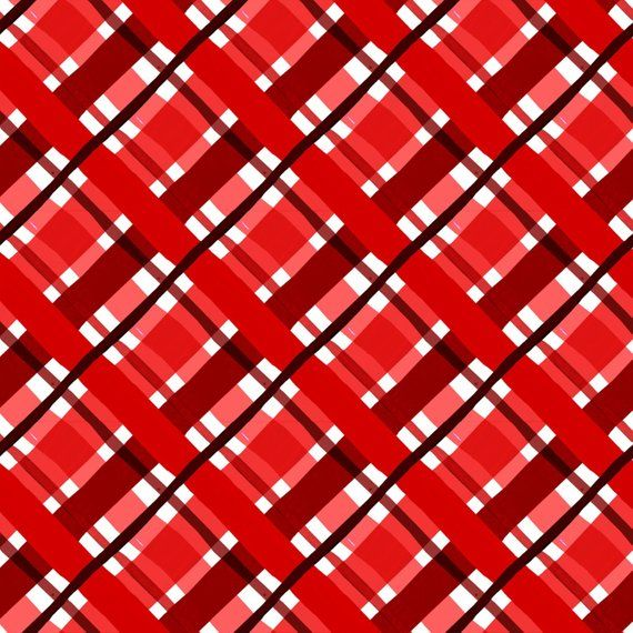 Jolly Holiday Plaid Red (6JHI-3) by In The Beginning Fabrics Fabric