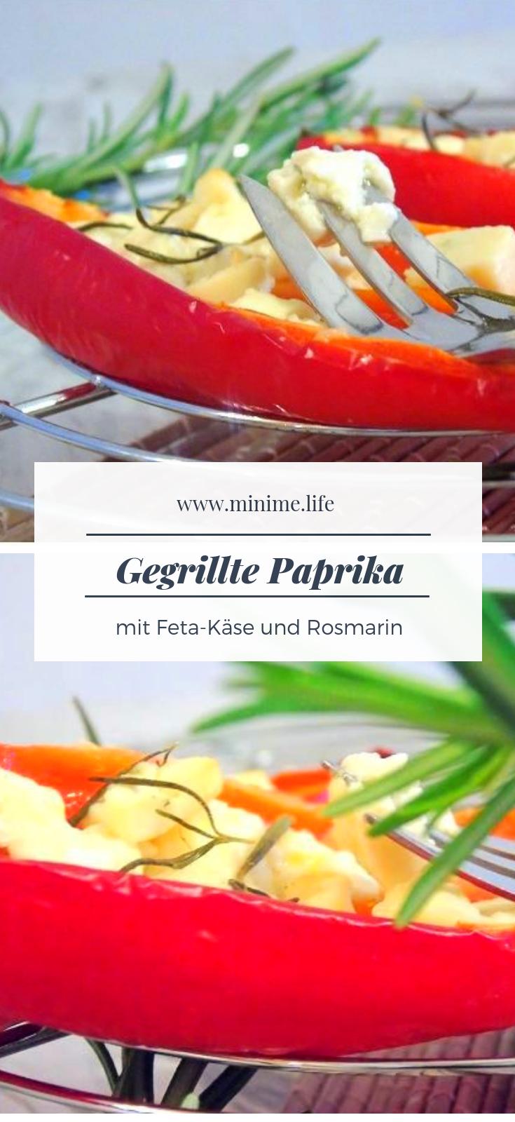 Gegrillte Paprika mit Feta: ein einfaches Rezept für Grill oder Ofen