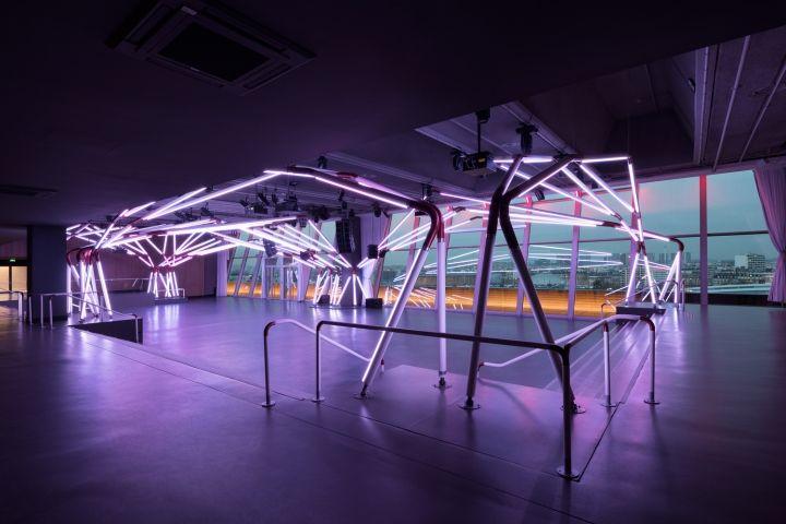 terminal 7 club rhizomatic grid by estudio guto requena paris rh pinterest com Footwear Design Blog Retail Store Interior Design