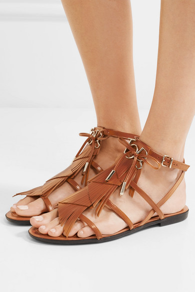 Fringed leather sandals Tod's Ai0OwVAgi