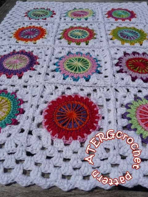 Crochet pattern circles in granny square by ATERGcrochet included ...