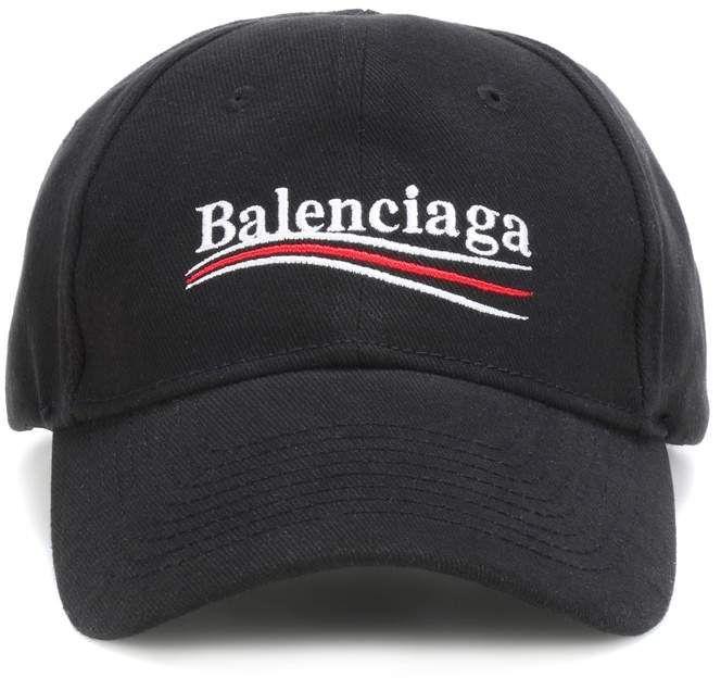 Balenciaga Embroidered cotton baseball cap  2899e58ccd1
