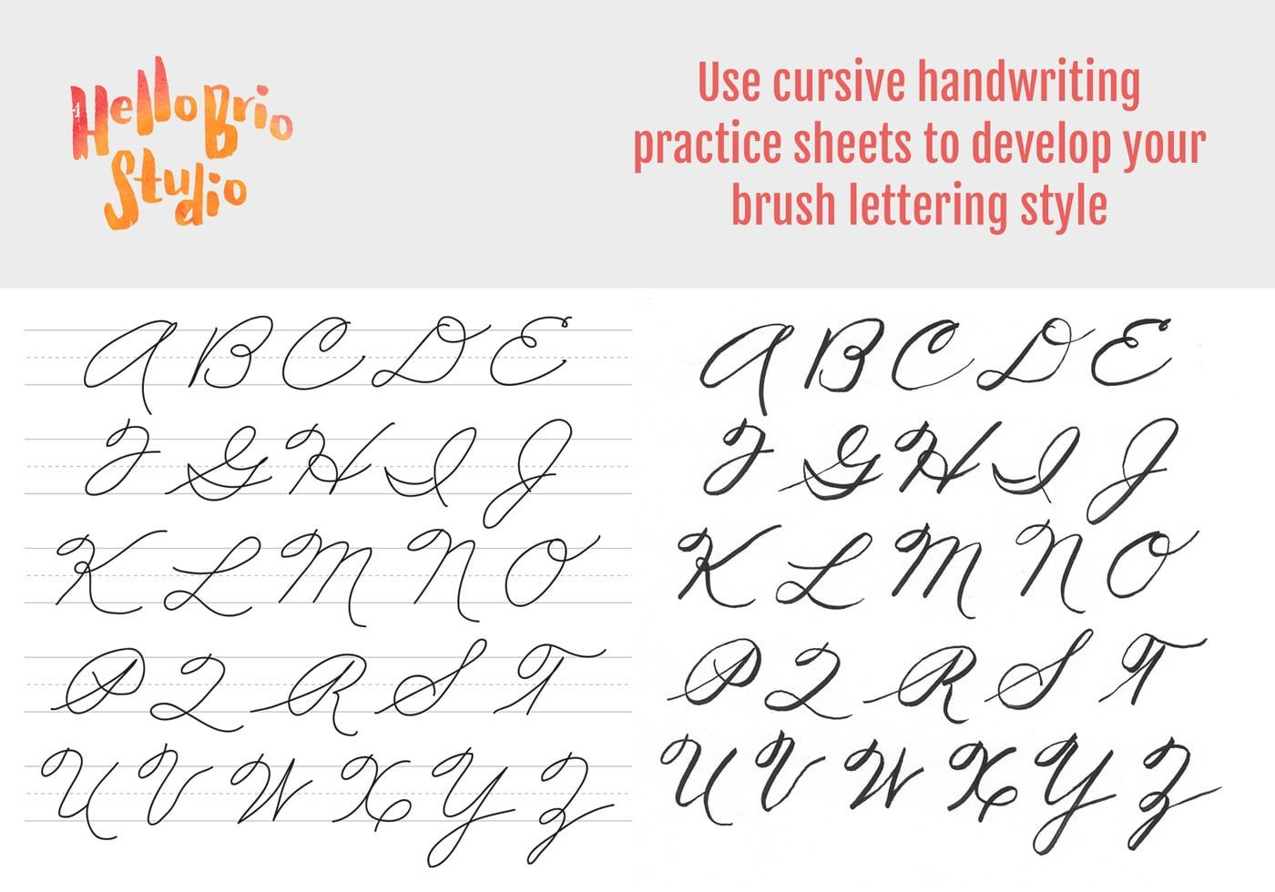 Practice Brush Lettering With Cursive Handwriting