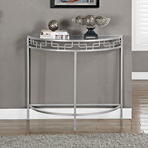 monarch specialties i 2110 silver metal hall console acce https