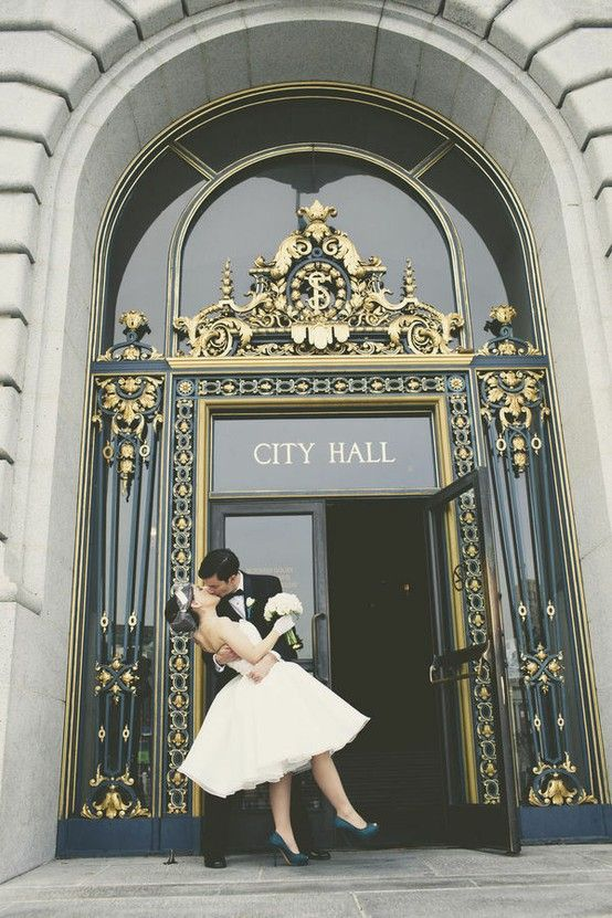 Cute Idea Either For A Justice Of The Peace Wedding Or Picking Up The License Toget Wedding San Francisco San Francisco City Hall Wedding City Hall Wedding