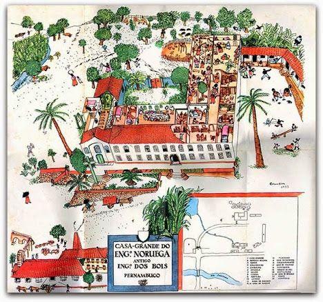 Casa Grande E Senzala Gilberto Freire 1933 Desenho De Cicero