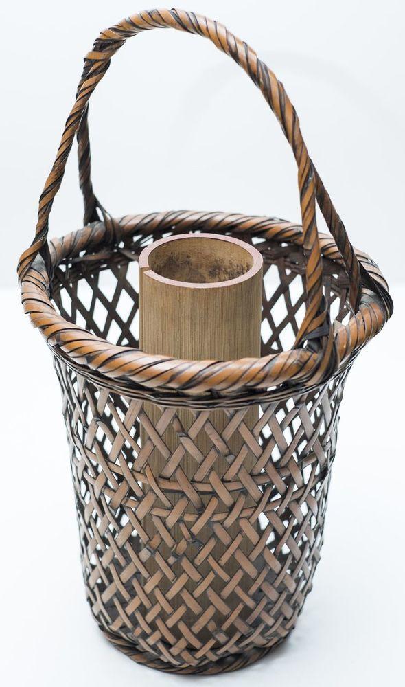 Japanese Antique Hana Kago Flower Ikebana Bamboo Craft Vase Basket - Japan Lover Me Store