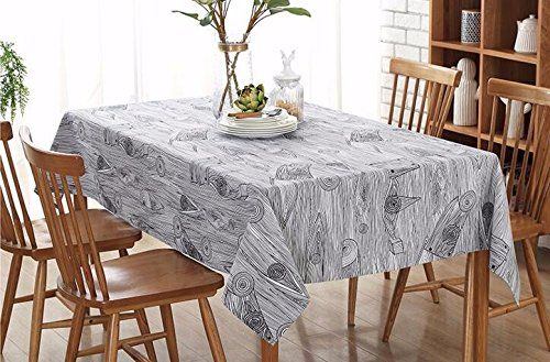 Wfljl Tablecloth Rural Style Rectangle Coffee Table Linen Computer Desk Printing 140x220cm Home Decor Home Hacks