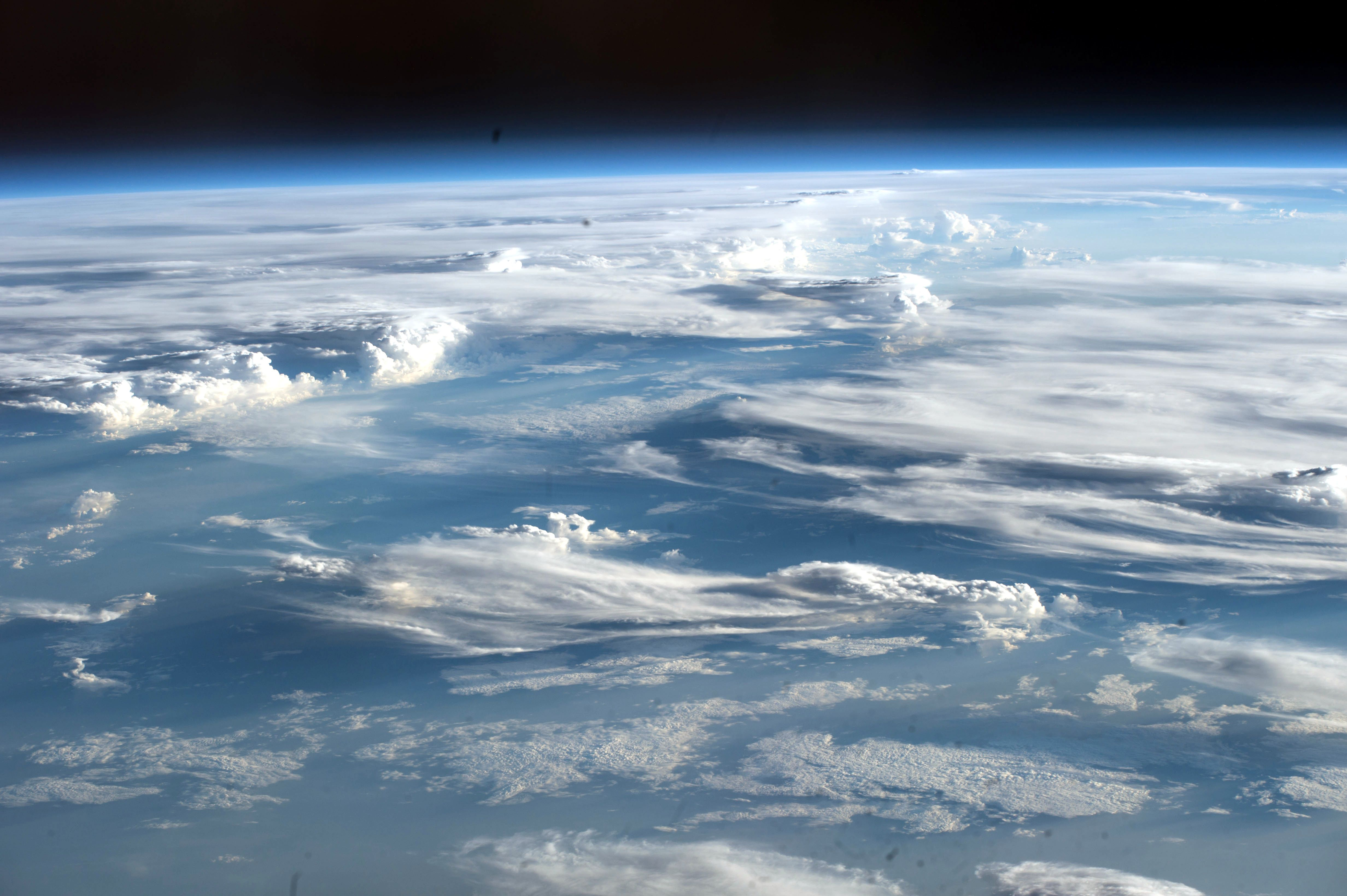 Space Station Crew Sees Lots Of Clouds