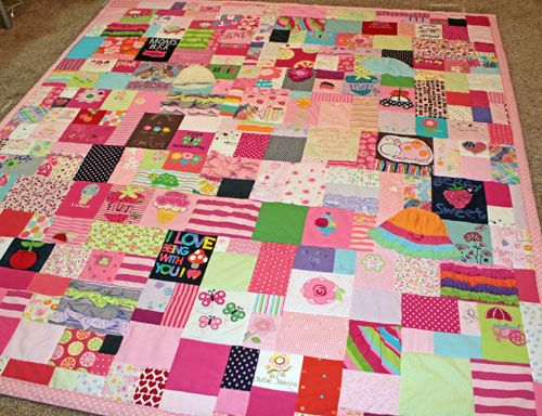 Baby Clothes Quilt from JellyBeanQuilts.com | Mikkie quilt ideas ... : custom baby clothes quilt - Adamdwight.com