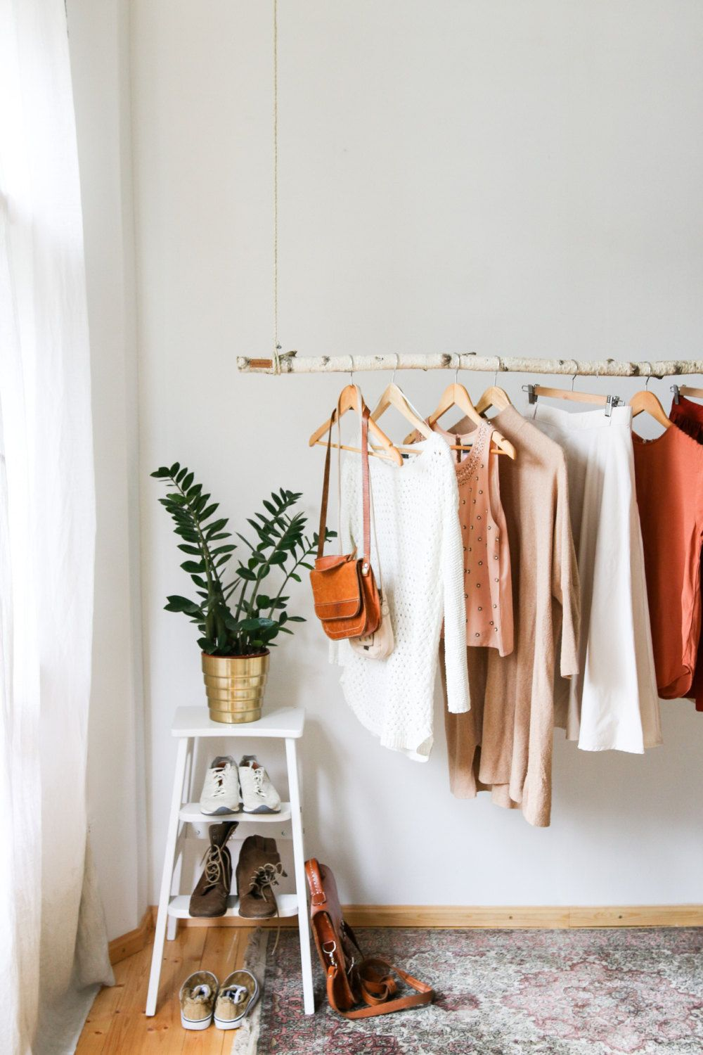 Deckenecke design für zuhause hanging branch clothing rack  interior  pinterest  bedrooms