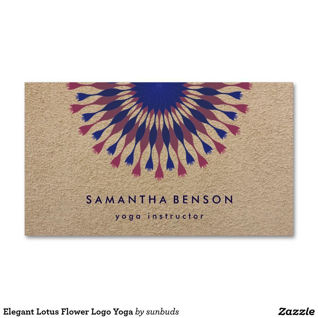 Elegant lotus flower logo yoga business card pinterest flower elegant lotus flower logo yoga business card izmirmasajfo