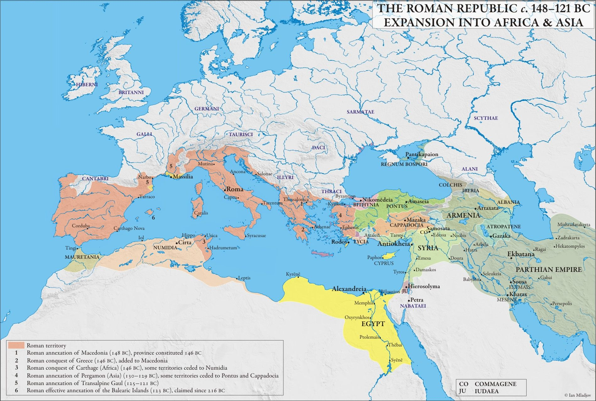 Roman Republican Expansion into Africa and Asia  Maps of the