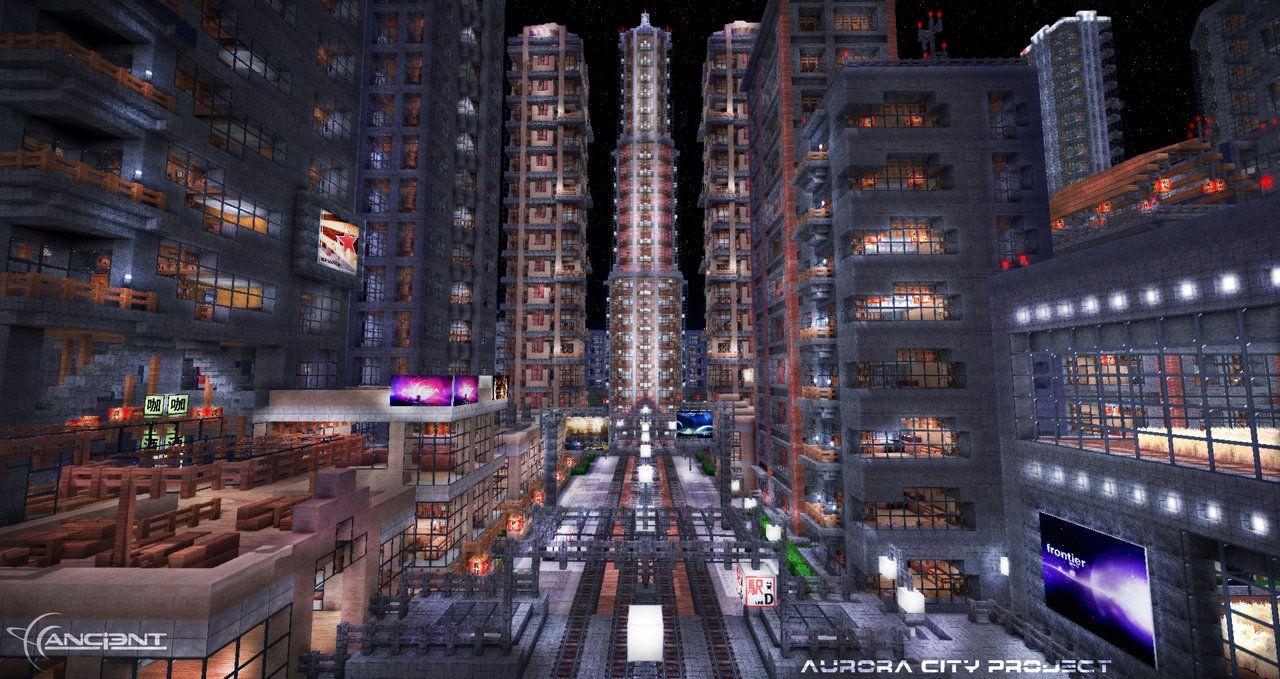 Aurora City Project Minecraft  Minecraft Architecture - New york map in minecraft