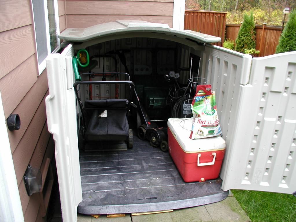 What Size Tool Shed Will A Lawn Mower Fit In Horizontal Slide