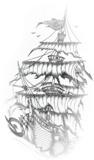 Photos dessin couleur bateau pirate page 10 coloriage pirates - Coloriage de tatouage ...