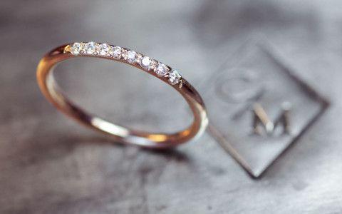 Diamond Ring Wedding Band 8 Pave Set Diamond Ring 14k Gold Wedding Band With Diamonds Diamond Wedding Bands 14k Gold Wedding Band Wedding Ring Diamond Band