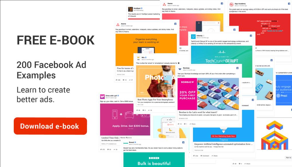 200 Facebook Ad Examples Ebook Best Facebook Ad Design Ads