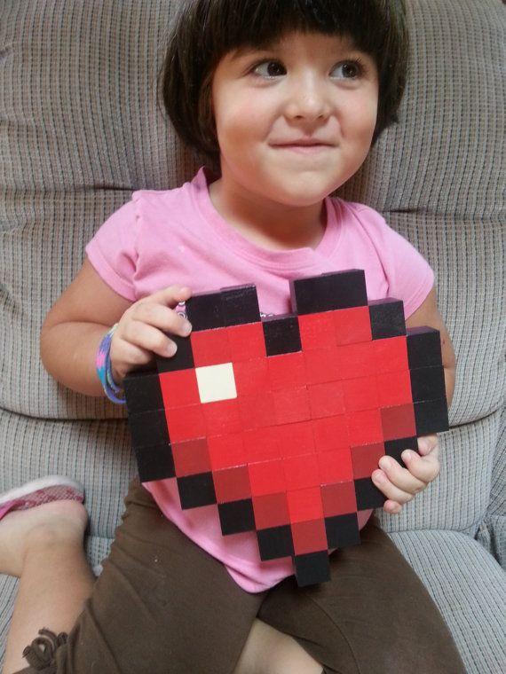 Minecraft Heart Wood Pixel Art by Shobbijam on Etsy, $16.00 | I\'m ...