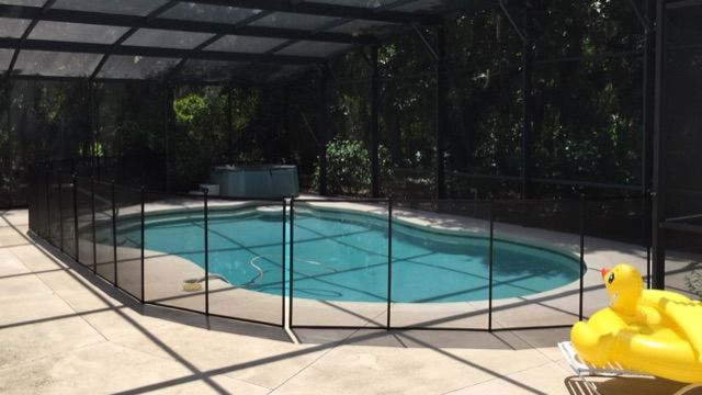 Tavares Florida - Be proactive in saving young children from pool accidents by having pool fence surrounding your swimming pool. #PoolFence #PoolSafety #BabyBarrier