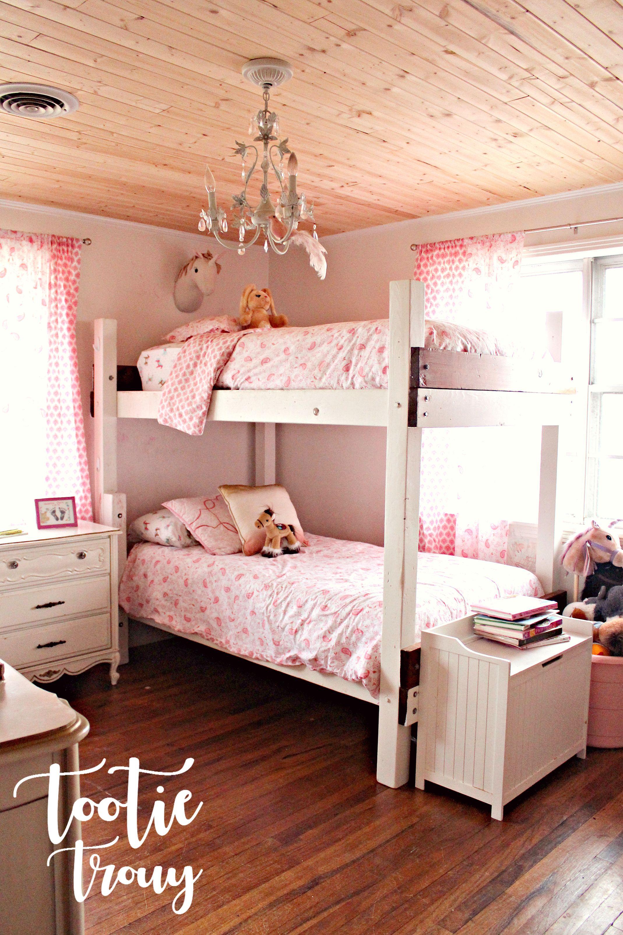 Loft bed with slide kmart  Tootie Trouy Home u Interior Design u Real Estate Bunk Bed Girls