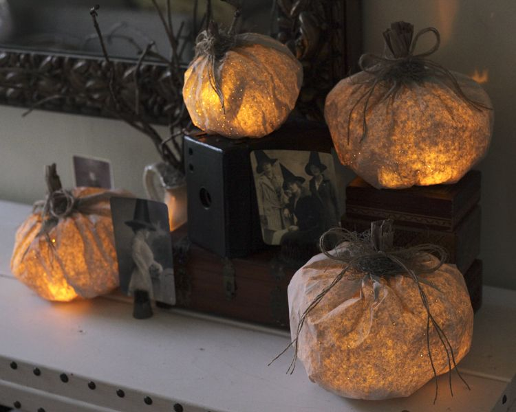 Tutorial Paper Pumpkin Luminary Halloween Decorations With