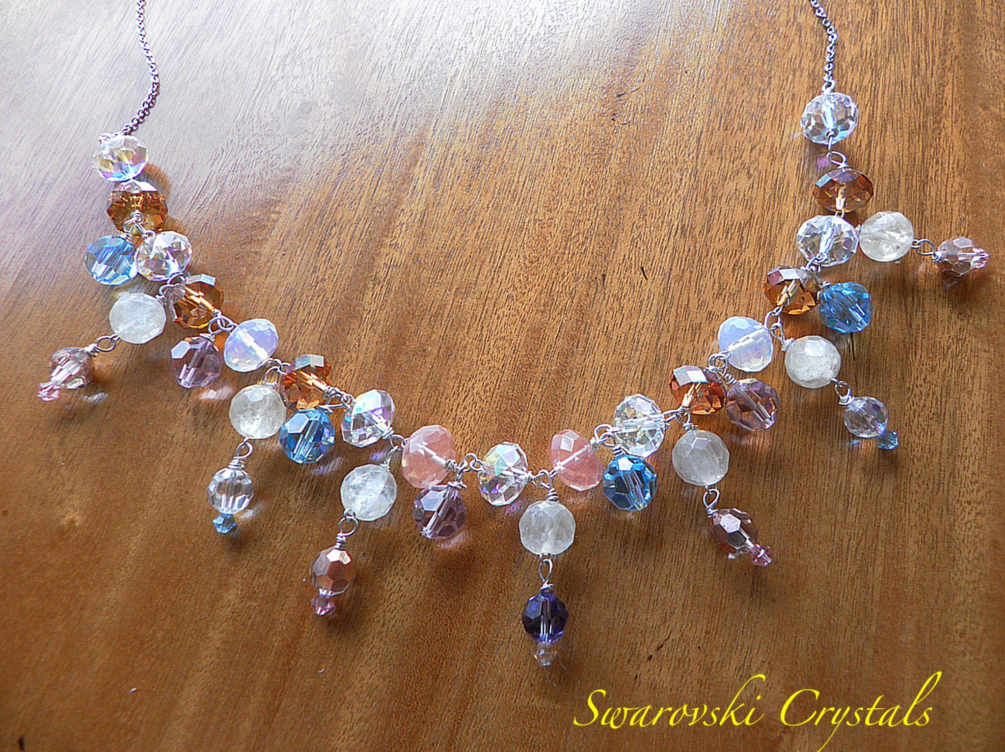 Swarovski and Genuine Stone Necklace  www.natasharussia.com