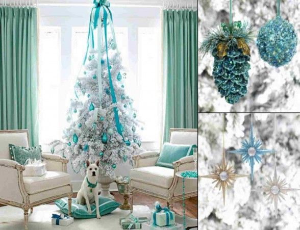 blue and silver holiday decorating ideas Icy Christmas Blue - blue and silver christmas decorationschristmas tree decorations