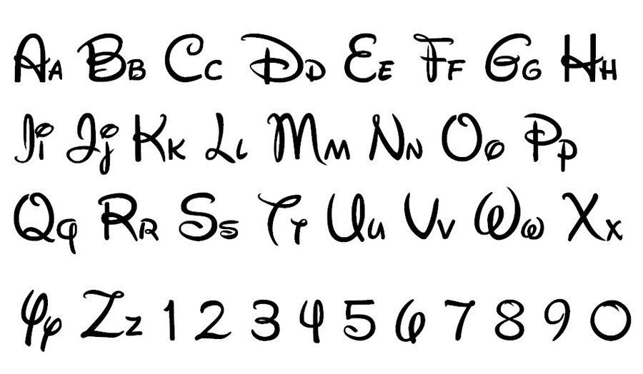 photo regarding Disney Letters Printable named Alphabet of Disney by way of Lena We Centre It Hand Lettering