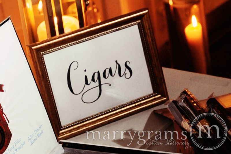 Cigars Sign Thick Style Wedding Signage