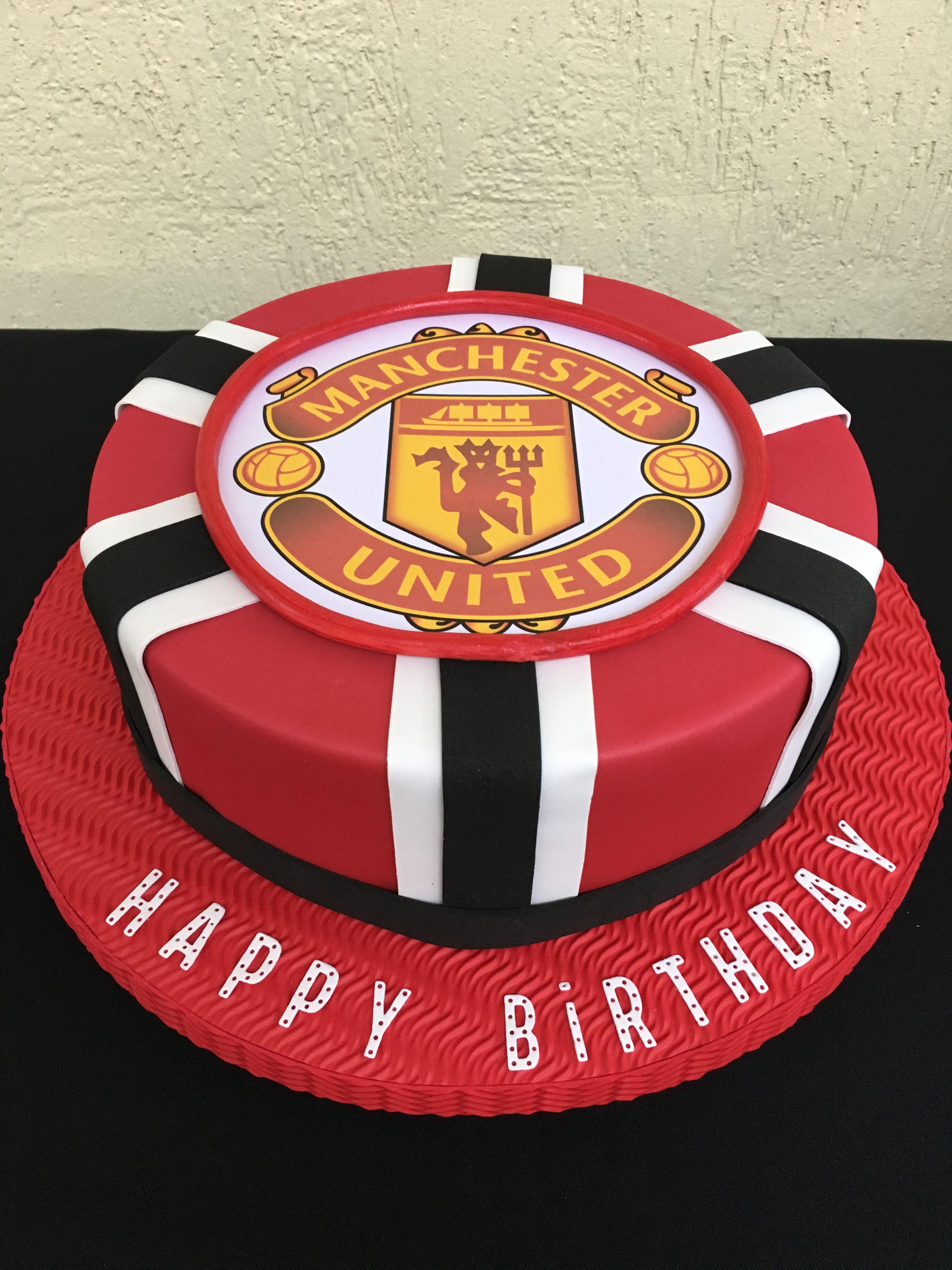 Excellent Torta Falsa Manchester United Manchester United Birthday Cake Birthday Cards Printable Nowaargucafe Filternl